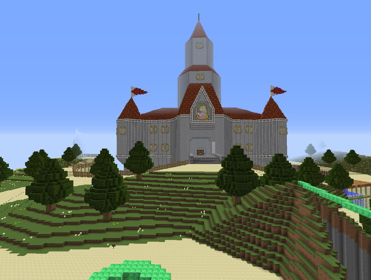 I'm building the complete Peach's Castle from Super Mario 64