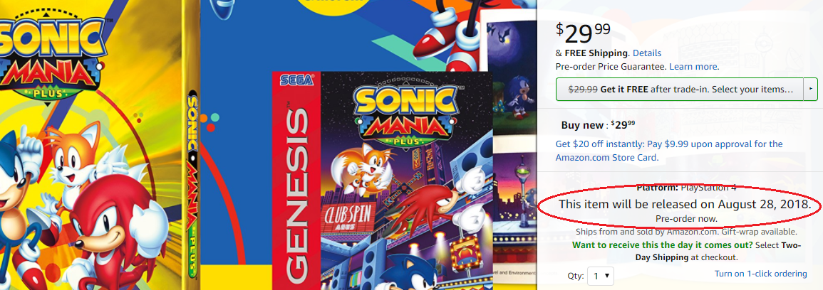 Sonic Mania Plus: Official Reveal (Coming July 17th) - NO